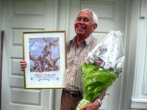 JØRN FREBERG er utnevnt til æresmedlem i Borre Historielag. FOTO: PRIVAT