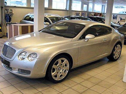 En slik Bentley Continental med 560 hester under panseret angret en Nøtterøy-mann på at han hadde kjøpt for 1,8 millioner kroner.