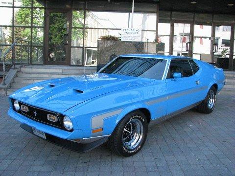 Denne Mustangen fra 1971 står på Bryn og er den eneste av sitt slag i verden.