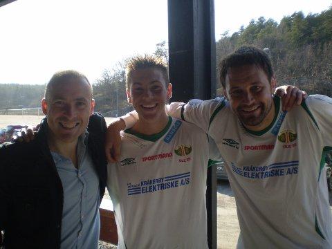 KIL-trioen (f.v); Bjørnar Johannessen, Jørgen Johannessen og Markus Ringberg kunne glede seg over tre poeng etter lørdagens kamp mot Trøgstad/Båstad.