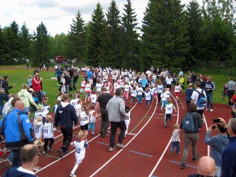 160 barn la ut på den en kilometer lange løypa på Lambertseter.