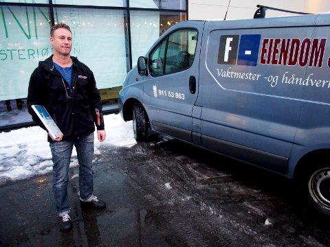 En gaselle: André Gattermanns selskap F-Eiendomsservice har blitt tildelt Gaselleprisen av DN.Foto: john johansen