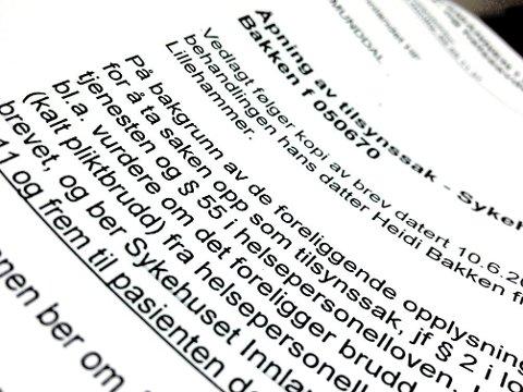 Tilsynssak: Fylkesmannen i Hedmark har åpnet tilsynssak mot flere sjukehus og leger samt hjemmesjukepleien i Trysil.
