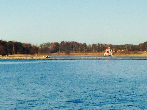 Sea King-helikopteret bisto i redningsaksjonen.