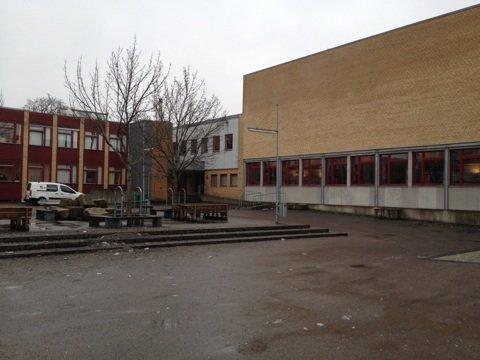 Tidligere var det kun disse to bygningene skolen besto av.