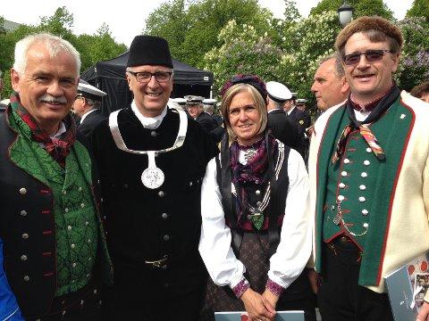 Thomas Fosen, Vidar Lande, Eli Hovd Prestegården og Dag Lislien.
