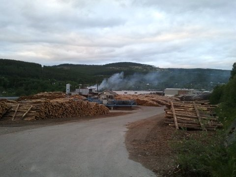 BRANN: Tirsdag kveld begynte det å brenne i lokalene til Trysil fjernvarme.