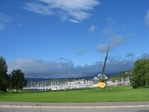 BESKUTT KUNSTVERK: I 1999 brukte golfspillere Haugelands «Solskulptur» som blink.
