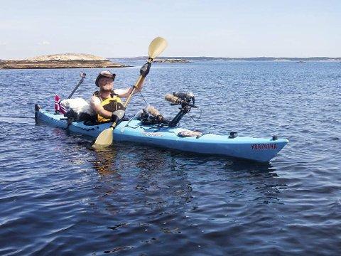 Ytre Hvaler Nasjonalpark: Paul Olai fikk mye sol på sin reise.