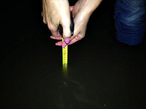 Vannet sto nærmere 40 cm over kjellergulvet i denne kjelleren.
