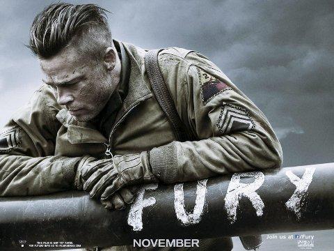 FURY: Brad Pitt spiller hovedrollen i «Fury», en av festivalfilmene.FOTO: UIP
