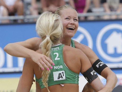 Tipp topp: Janne Kongshavn glemmer ikke da hun og makker Victoria Faye Kjølberg fikk sin aller første topp ti-plassering i verdensserieturneringen i Mexico i fjor. – Det var stort. Det har jeg ventet lenge på, sier hun.  foto: Mauro De Sanctis