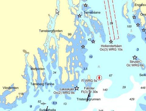 kart nøtterøy skjærgård Tønsbergs Blad   Nytt, gratis sjøkart kart nøtterøy skjærgård
