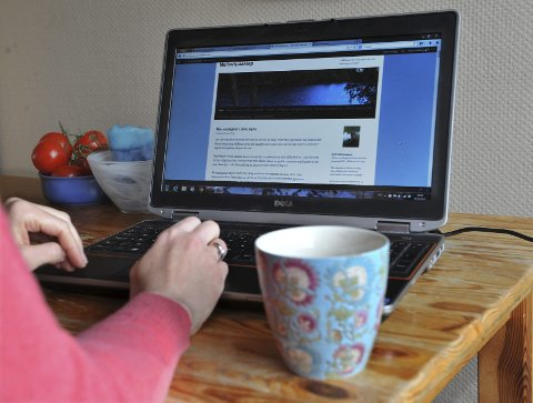 Anne-Helene bruker tiden på å oppdatere de to bloggene hennes.