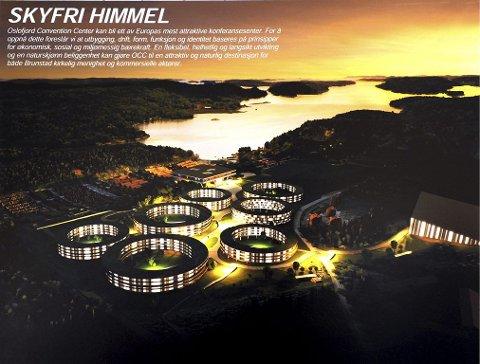 RINGER VED VANNET: Det kanskje mest spektakulære forslaget har fordelt hotellrommene på syv runde bygg som alle står på påler.
