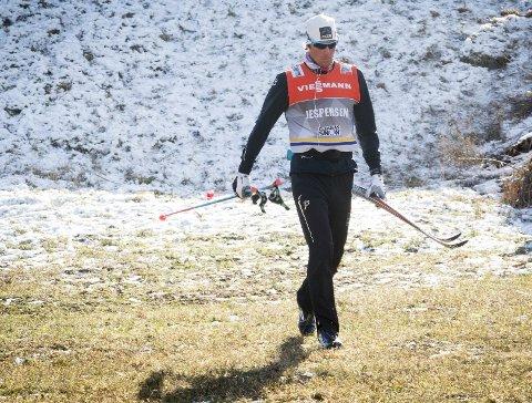 Skuffet: Smilet har ikke sittet like løst som i fjorårets Tour de Ski. Her er Chris Jespersen ferdig med fredagens treningsøkt i Val di Fiemme. Foto: NTB scanpix