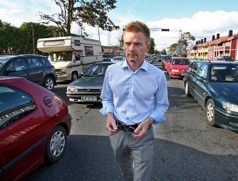 Høyres Tage Pettersen tror stortingspolitikerne forstår at Moss har et alvorlig samfunnsproblem knyttet til trafikken gjennom byen. foto geir hansen