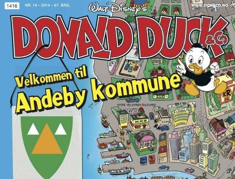 kart over andeby Tønsbergs Blad   Kvakk, se hvem som kom til Andebu! kart over andeby