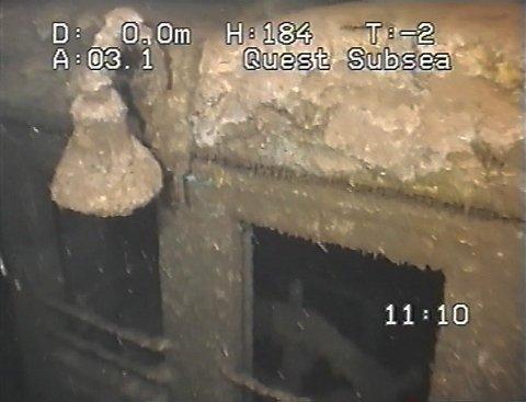FUNNSTEDET. Her på 95 meters dyp, på høyde med Solumsbukta og Lahellholmen ble Fram funnet.