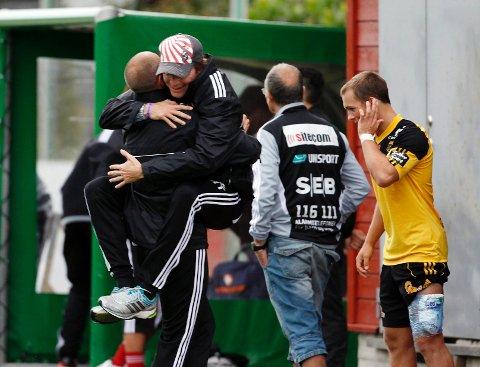 Morten Tandberg synes laget viste ryggrad mot Strømmen. Da kunne han hoppe av glede.