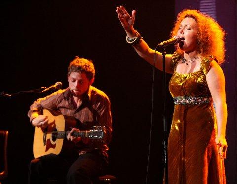 Kristin Asbjørnsen hadde med seg Jarle Bernhoft på en konsert under Asker jazzfestival i 2006.