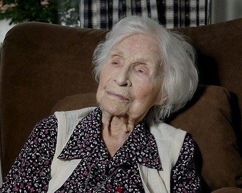 Gudrun Omdahl Onshuus var nær 111 år gammel da hun døde i fjor sommer.