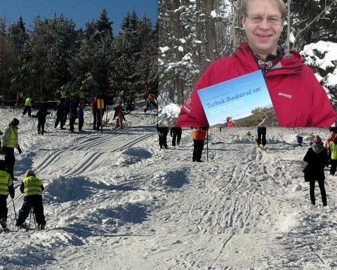 Tom Helgesen falt i et skihopp som var laget i skiløypa.