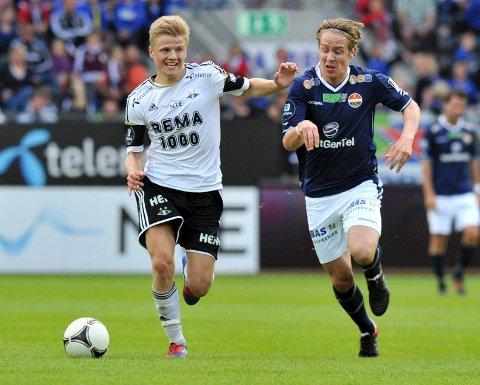 Stefan Johansen (t.h.)  har takket ja til kontraktsforslaget fra Godset og blir dermed ikke  rekkekamerat med Fredrik Midtsjø i Rosenborg.