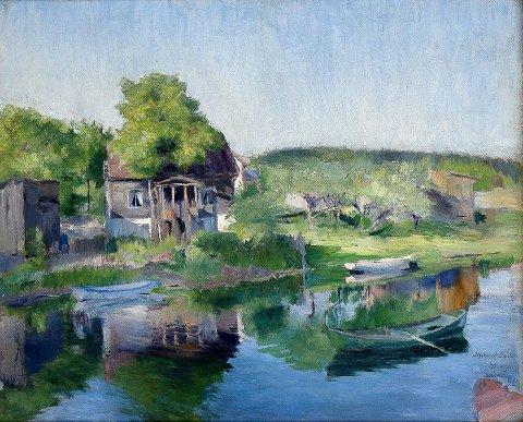 REKORDPRIS: Harriet Backers Bærumsmotiv «Fra Sandvikselven» fra 1890 gikk for 2,2 millioner kroner.