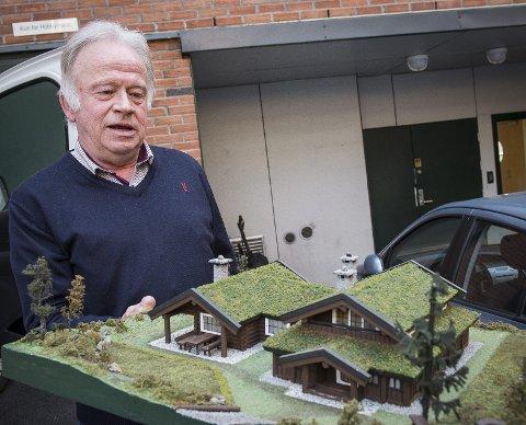 Denne modellen laget han av hytta han ønsket seg, og slik ble det. Hytta på Dagali er hans nye base.