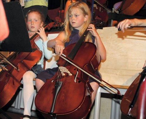 Louise Slenes (8) fra Kolbotn storkoste seg på konserten.