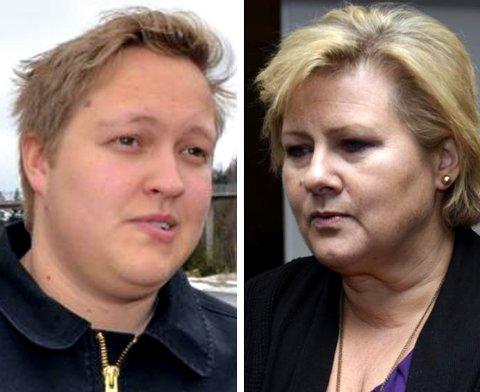 HAR IKKE TID: Statsminister Erna Solberg (H) har ikke tid til å komme til Østerdalen for å sette seg inn i ulveproblematikken. Hun sender en statssekretær. (Foto: Bjørn-Frode Løvlund)