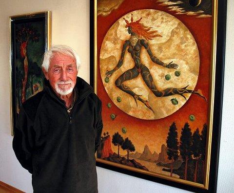 Gino Scarpa viser en rekke malerier av favorittgudinnen sin på Galleri Varden fra i ettermiddag.
