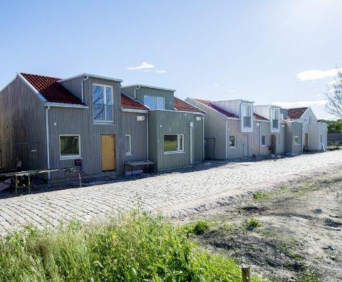 Fire er solgt: Rekkehusprosjektet ved Ringverven har vakt sterke reaksjoner.Foto: Erik Hagen