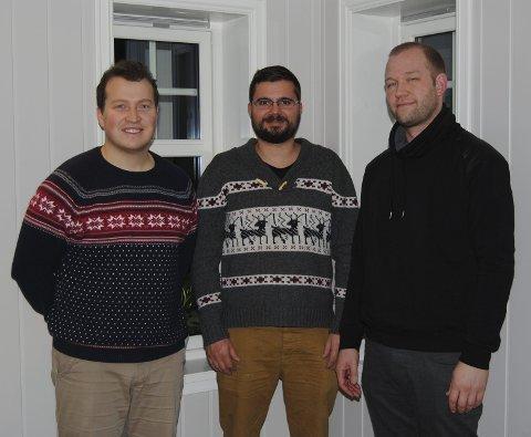 Fra venstre: Tor Øyvind Westbye, Sven-Erlend Anderssen og Kenneth Holter.