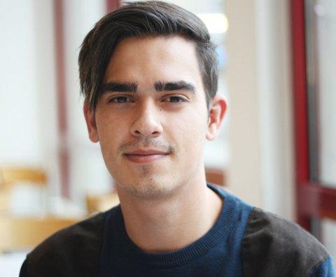 Marius Tuft (17), elev ved Malakoff videregående skole. (Foto: Ingvild Bjerkan Fredvang)