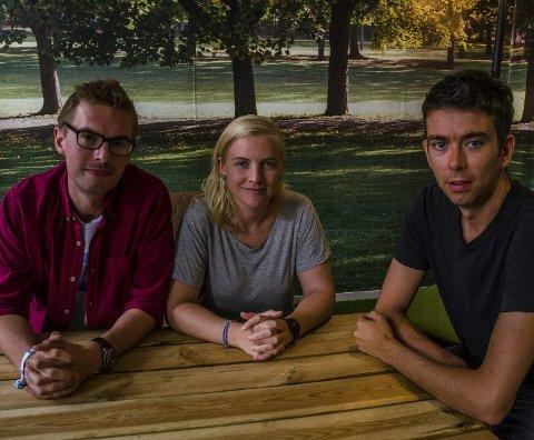 Redaksjonen: Anders Veberg, Andrea Nøttveit og Svein Olav Langåker i Framtida.nofoto: PRIVAT