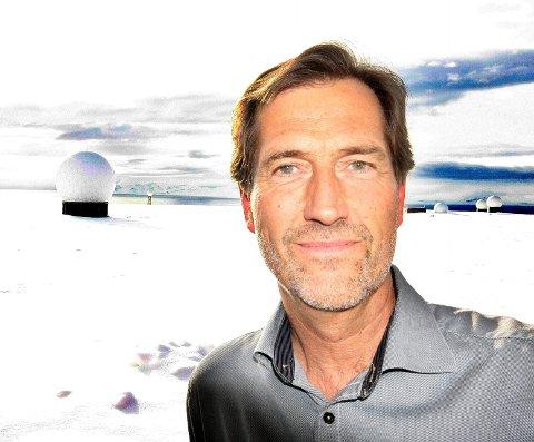 Konsernsjef Walter Qvam i Kongsberg Gruppen. Her fotografert på Svalbard.