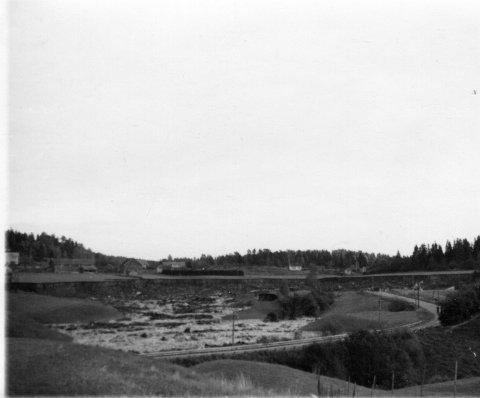 Raset med gårdene på Kverne i bakgrunnen.