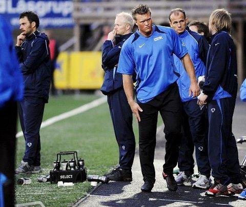SKADEFORFULGT. Marcus Andersson fikk seg en smell, og må stå over kampen mot Fyllingen.  FOTO: TORE SANDBERG