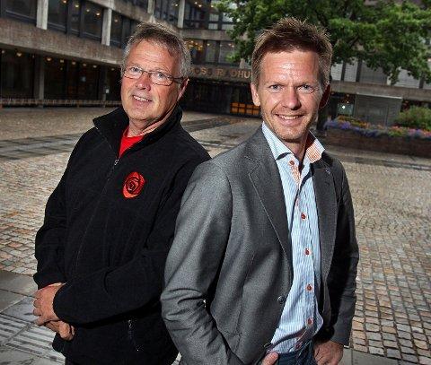 Både Tomas Colin Archer (Ap) og Tage Pettersen (H) er negative til forslaget om byggestans på Jeløy.