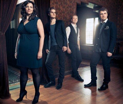 SalmeKlang består av Mari Klingen, liungen Knut Ingolf Brenna, Per Erik Olsen og Jo-Martin Grosås Nordbø.