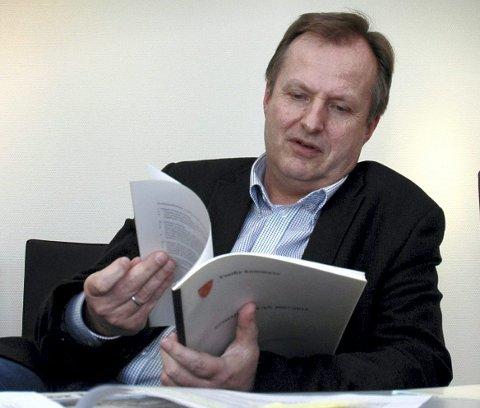 ORDKNAPP: Rådmann Knut Haugestad i Vestby ønsker å si minst mulig om det som seiler opp.Foto: Kjersti Halvorsen