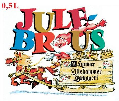 JULEBRUSEN: Ringnes har beholdt julebrusen fra Hamar Bryggeri, med etikett tegnet av Per Solheim fra Hamar.