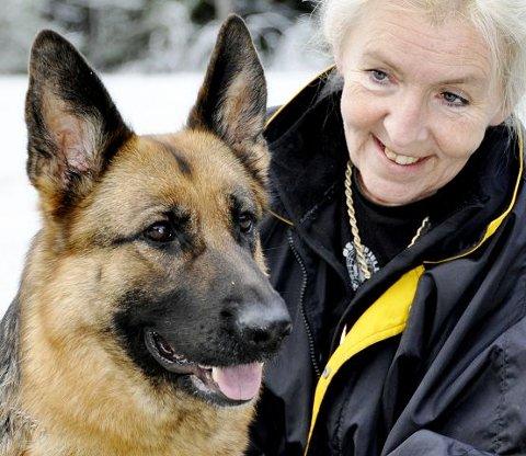 SKJØNN DAMEEn av landets aller flotteste schæfertisper har det godt hos matmor Gunn Hansen Østrefjells kennel på Ørmen. Schæfer er den mest populære hunderasen i Norge. Vakre og lekne Dirra representerer dem svært godt.