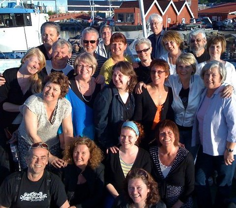 GJESTER: Swinglett har sunget med en rekke kjente artister. foto: privat