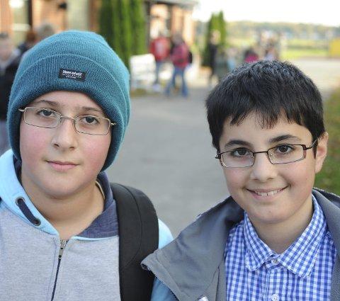 Tok initiativ: Zaid Shather (t.h.) og Hassan Al-mashrafawi.