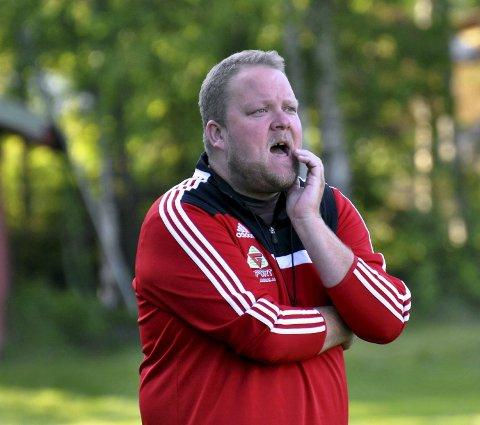 Engasjert: Nybygda-trener Frode Tajet.