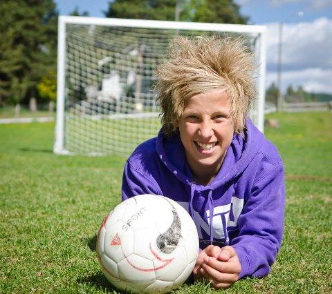 Talent: Kommende lørdag reiser Henrik Lehne Olsen (13) til Bærum for å trene med G14-laget til Stabæk. Foto: Ole Johan Storsve.