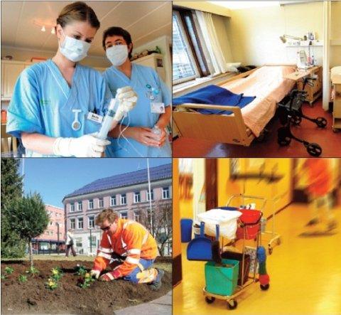 NHO Service konkluderer med at Sandefjord kommune kunne spart 20–25 prosent for hver av de fire store tjenesteområdene sykehjem, hjemmetjeneste, renhold og drift og vedlikehold ved privatisering.